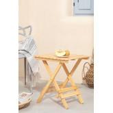 Tavolino quadrato pieghevole in legno Bhêl , immagine in miniatura 1