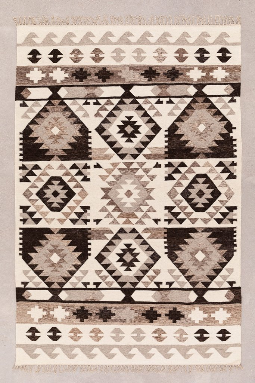 Tappeto in lana e cotone (252x165 cm) Logot, immagine della galleria 1