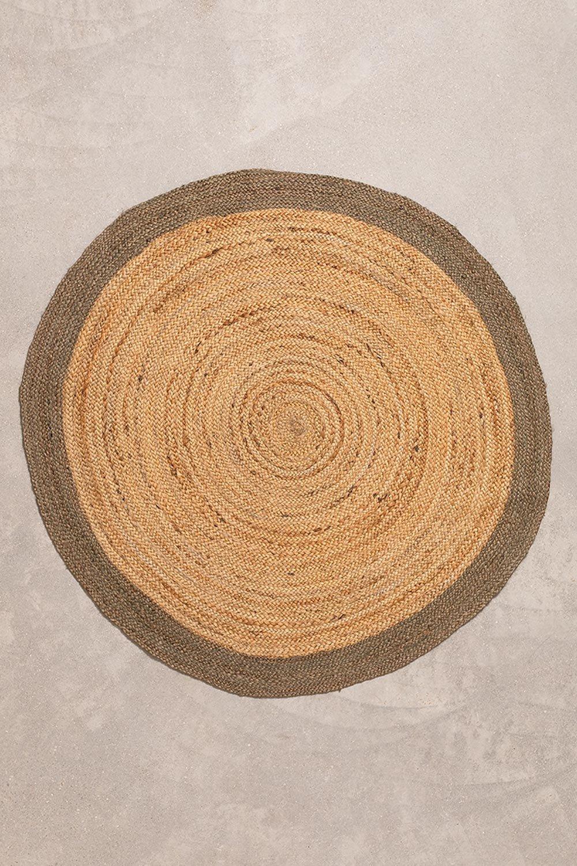 Tappeto rotondo in juta naturale Dagna Colors, immagine della galleria 1