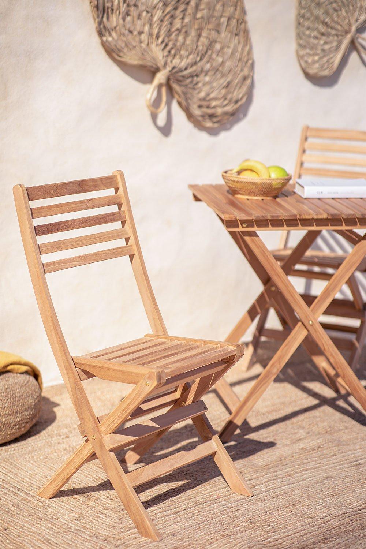 Sedia da giardino pieghevole in legno di teak Nicola, immagine della galleria 1