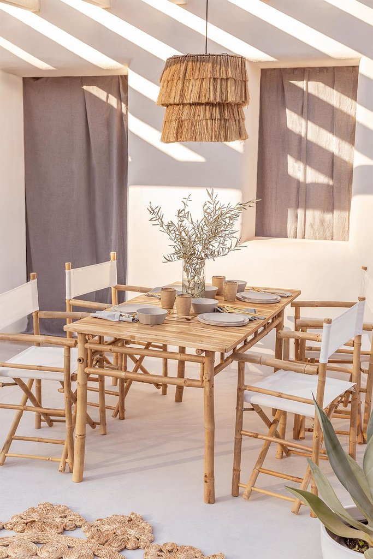 Tavolo in Bambù (150x80 cm) Marilin, immagine della galleria 1