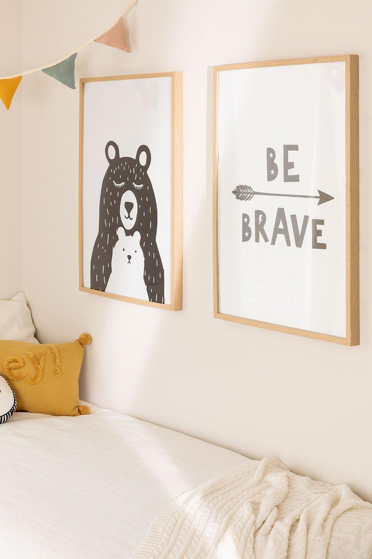 Set di 2 poster decorativi (50x70 cm) Brave Kids, immagine della galleria 1