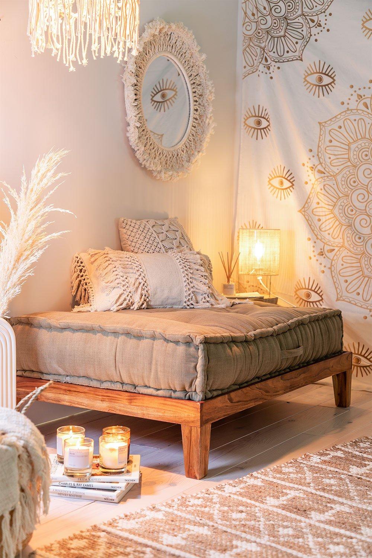 Cuscino Doppio per sofà modulare in cotone Dhel, immagine della galleria 1