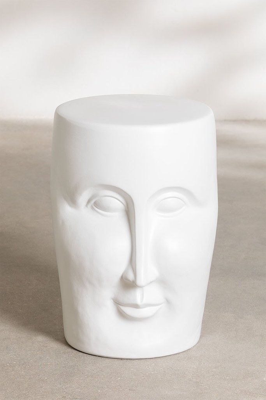 Tavolino rotondo in ceramica (Ø32 cm) Jaret Mate, immagine della galleria 1