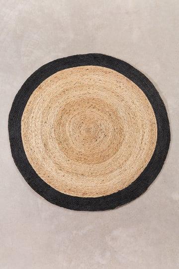 Tappeto rotondo in iuta naturale (Ø150 cm) Dagna