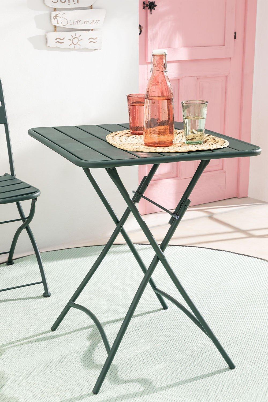 Tavolo da giardino pieghevole in acciaio (60x60 cm) Janti, immagine della galleria 1