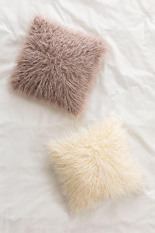 Cuscino quadrato in cotone (45x45 cm) Frostt, immagine della galleria 1