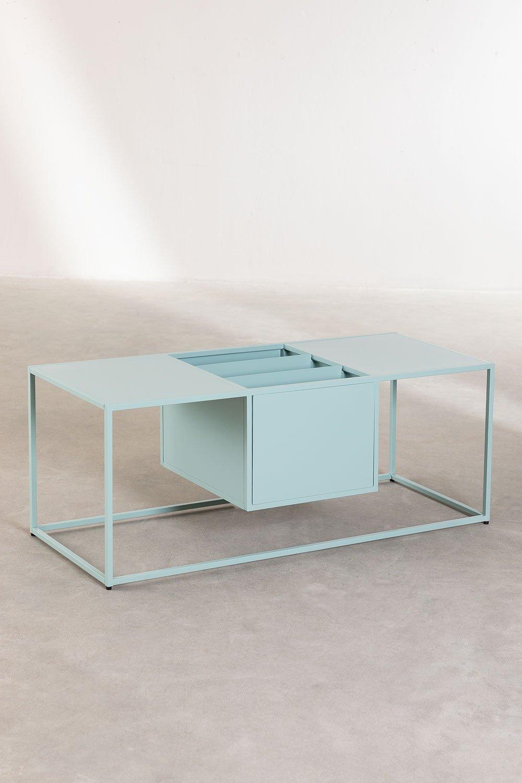 Tavolino con Portariviste in Metallo Blas, immagine della galleria 1