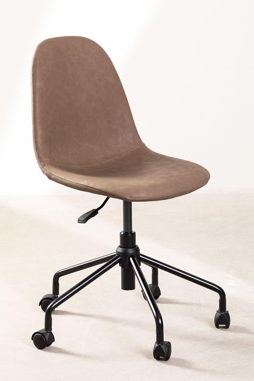 Sedia da scrivania in similpelle Glamm, immagine della galleria 1