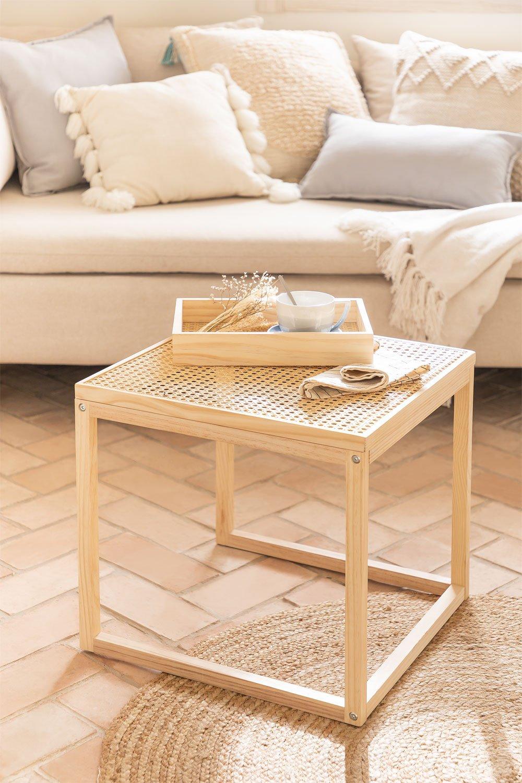 Tavolinetto in Rattan e Legno Riolut, immagine della galleria 1