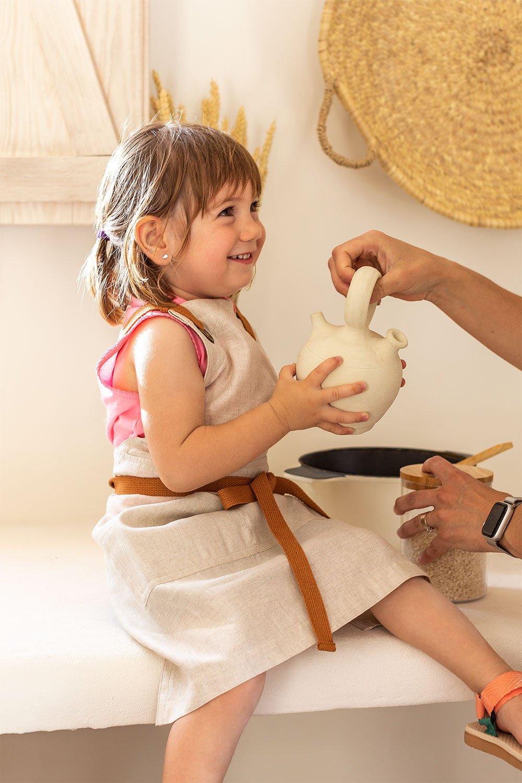 Grembiule in lino e cotone Zacari Kids, immagine della galleria 1