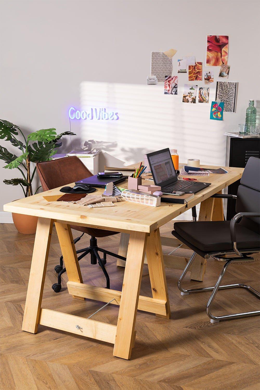 Tavolo pieghevole in legno (180x90 cm) Anic, immagine della galleria 1