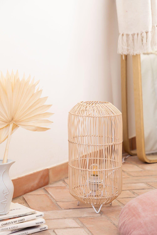 Lampada da Tavolo in Rattan Api , immagine della galleria 1