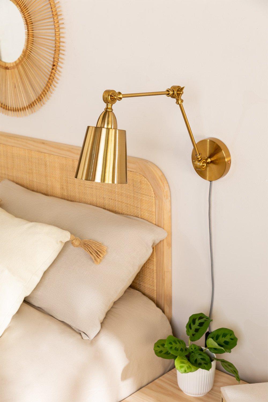 Lampada da parete metallizzata Floy, immagine della galleria 1