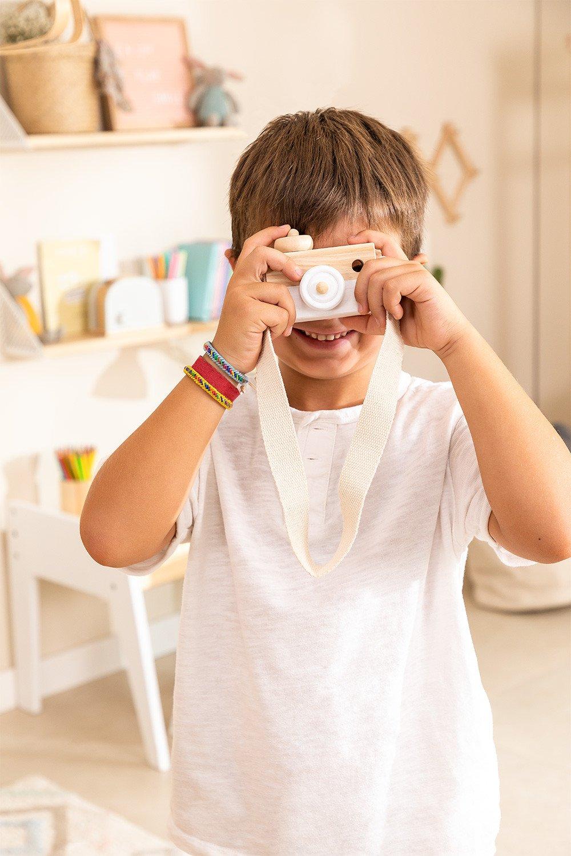 Macchina fotografica in legno di pino Nakom Kids, immagine della galleria 1