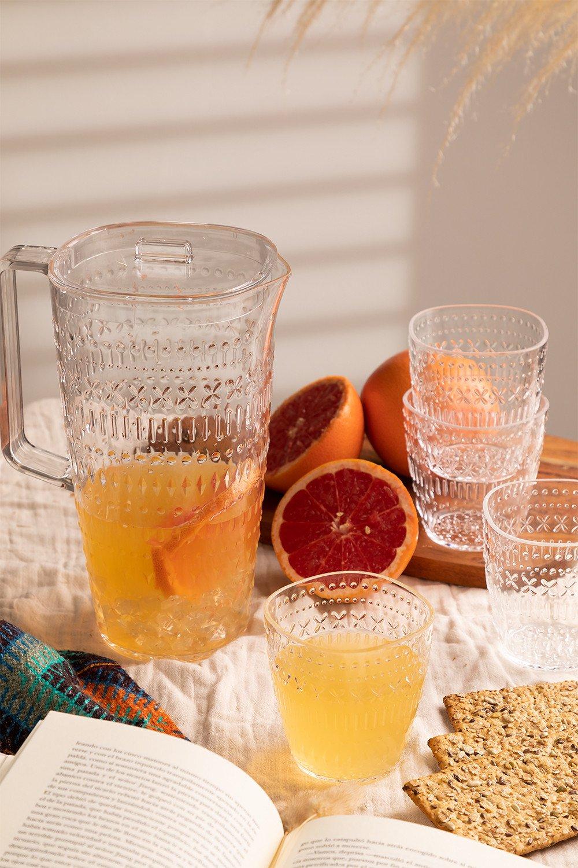 Set di 1 Brocca 2L e 4 Bicchieri Brandon, immagine della galleria 1