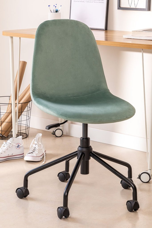 Sedia da scrivania in velluto Glamm, immagine della galleria 1