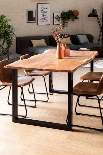 Tavolo da pranzo rettangolare in legno riciclato (180x100 cm) Sami