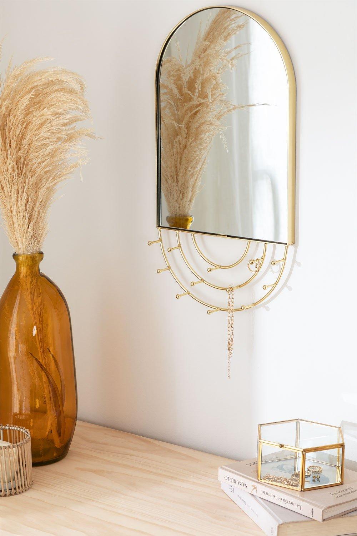 Specchio portagioie da parete di metallo Loan, immagine della galleria 1