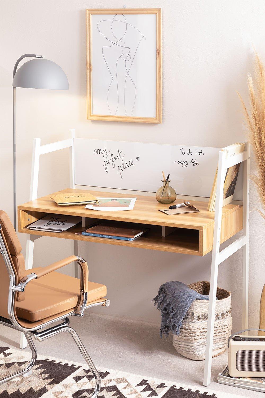 Scrivania in acciaio e melamina Rhank, immagine della galleria 1