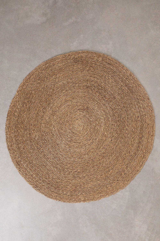 Tappeto rotondo in iuta naturale (Ø145 cm) Drak, immagine della galleria 1
