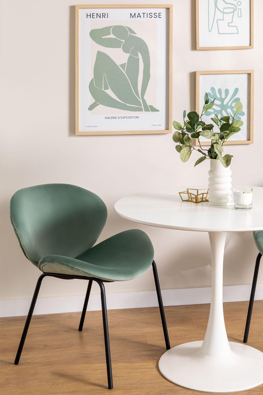 Sedia da pranzo in velluto Fior, immagine della galleria 1