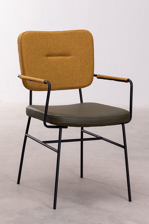 Sedia da pranzo con braccioli Milih , immagine della galleria 1