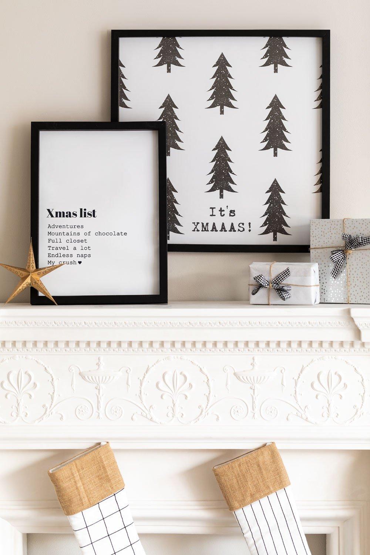 Set di 2 poster decorativi natalizi (50x50 e 30x40 cm) Wyrty, immagine della galleria 1