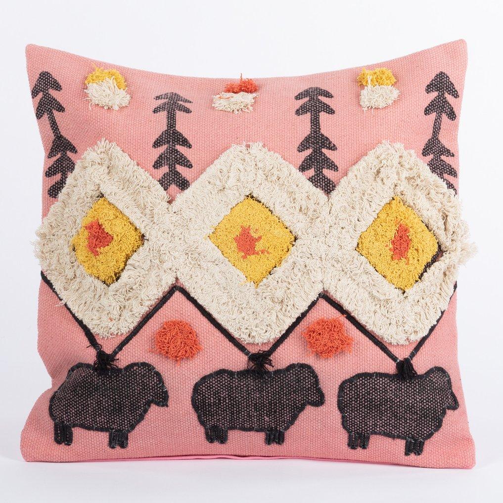 Federa cuscino quadrato in cotone (50x50 cm) Sham, immagine della galleria 1