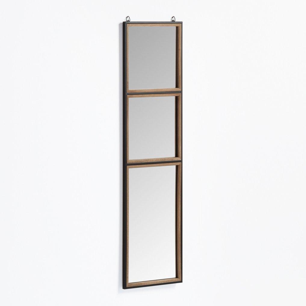 Specchio da parete rettangolare in legno e metallo (130,5x35 cm) Iogus, immagine della galleria 1