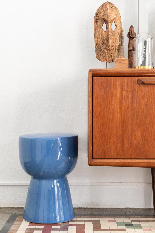 Tavolino rotondo in ceramica (Ø32,5 cm) Kaly, immagine della galleria 1
