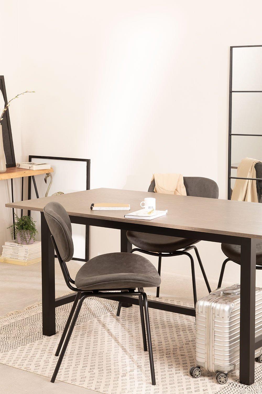 Tavolo da pranzo in legno di quercia Koatt (180x90 cm), immagine della galleria 1