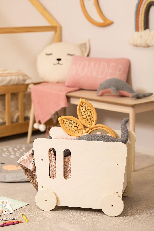 Carrello portaoggetti in legno Zac Kids, immagine della galleria 1