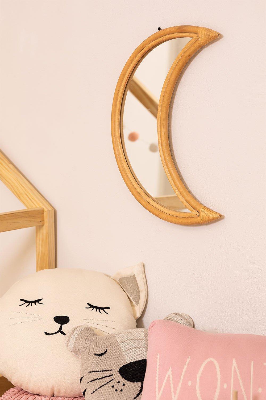 Specchio da parete in rattan (50,5x36,5 cm) Onell, immagine della galleria 1