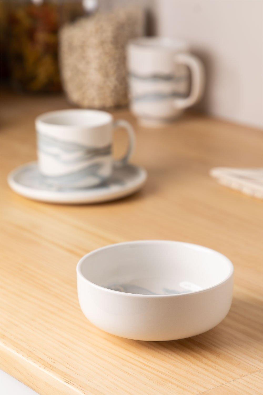 Pack di 4 ciotole in porcellana Ø12 cm Boira, immagine della galleria 1