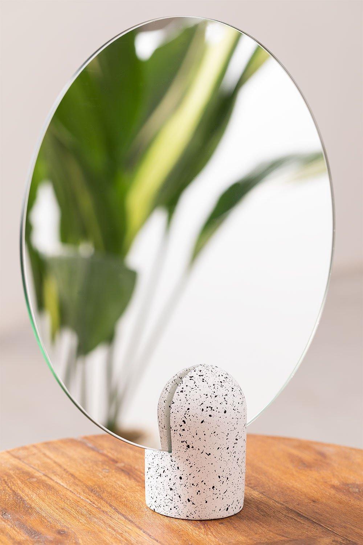 Specchio da tavolo rotondo (Ø25 cm) Onur, immagine della galleria 1