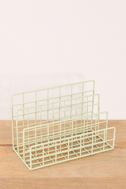 Portariviste in metallo a scomparti Bok, immagine della galleria 1