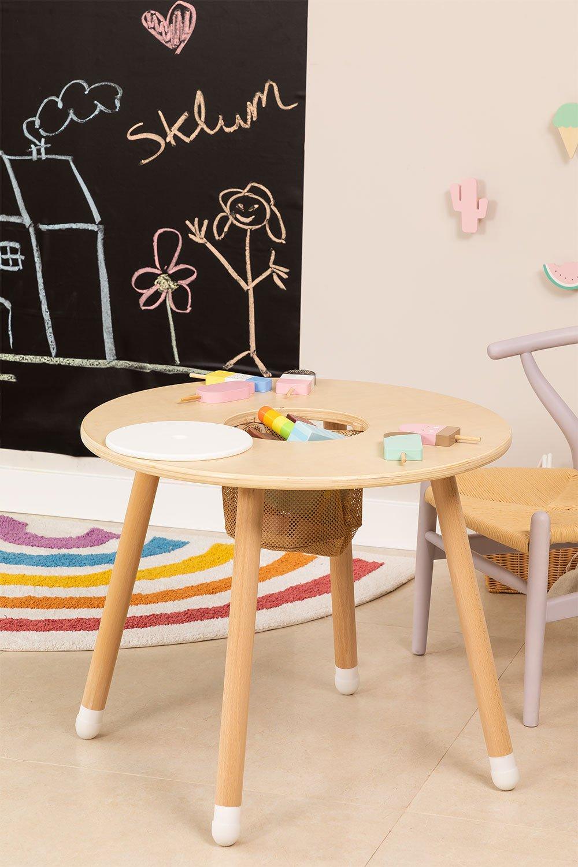 Tavolo da gioco in legno Plei Kids, immagine della galleria 1