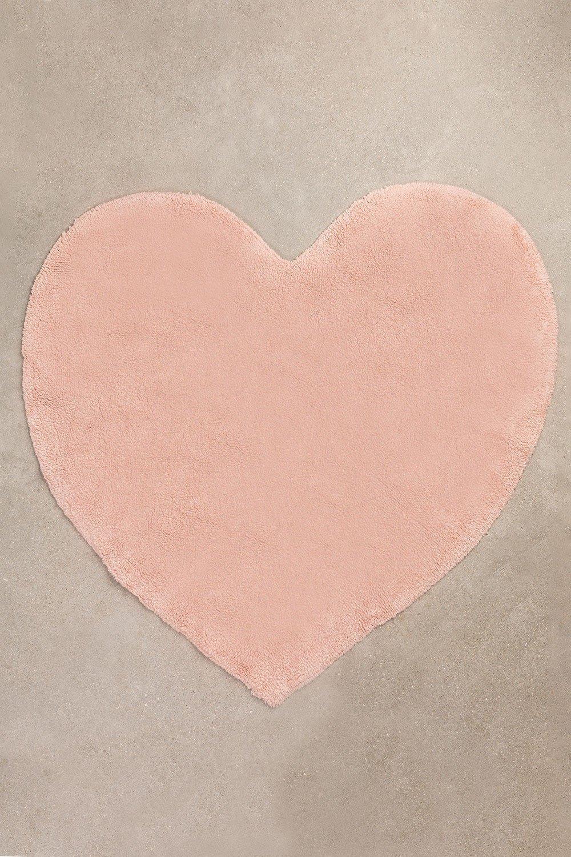 Tappeto in cotone Heart (118x120 cm) Sina Kids, immagine della galleria 1