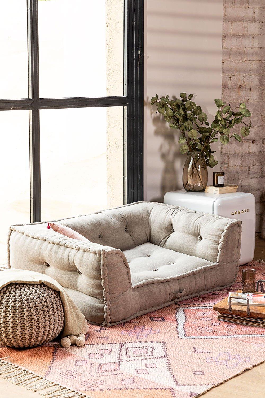 Sofá componibile in cotone Dhel, immagine della galleria 1