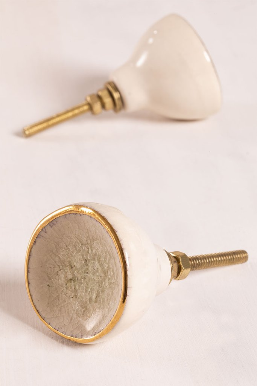 Set di 2 maniglie in ceramica Joney, immagine della galleria 1