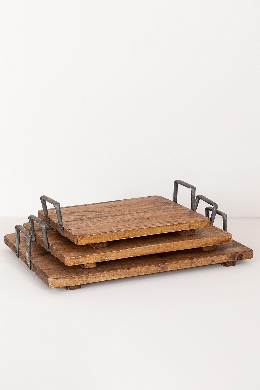 Supporto in legno riciclato Baka, immagine della galleria 1