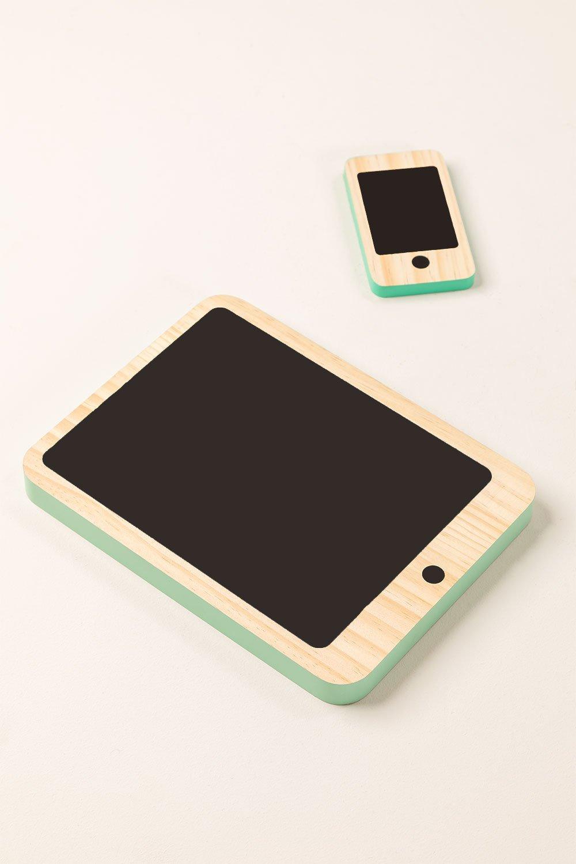 Set Tablet e cellulare in legno Gamis Kids, immagine della galleria 1