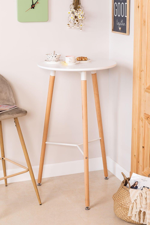 Tavolo alto rotondo in MDF e metallo (Ø60 cm) Royal Design, immagine della galleria 1
