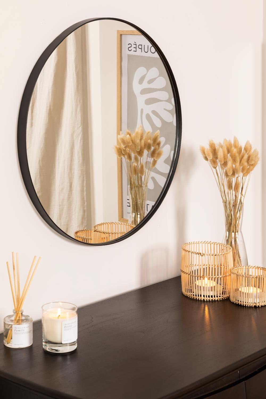 Specchio rotondo in metallo (Ø60,5 cm) Gon, immagine della galleria 1