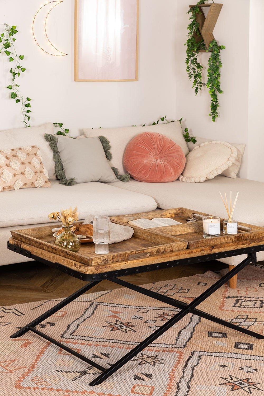 Tavolino con vassoi estraibili  (104x66,5 cm) Lohmi, immagine della galleria 1