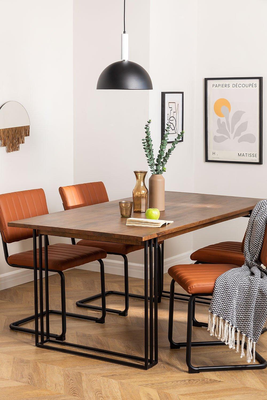 Tavolo da pranzo rettangolare in legno di mango (180x90 cm) Betu, immagine della galleria 1