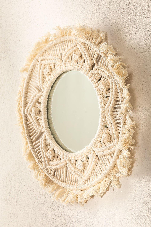 Specchio da parete rotondo in macramè (Ø35 cm) Adrien, immagine della galleria 1