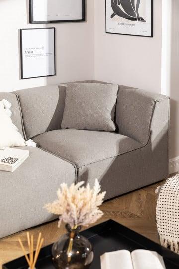 Divano angolare per divano componibile in Tessuto Aremy