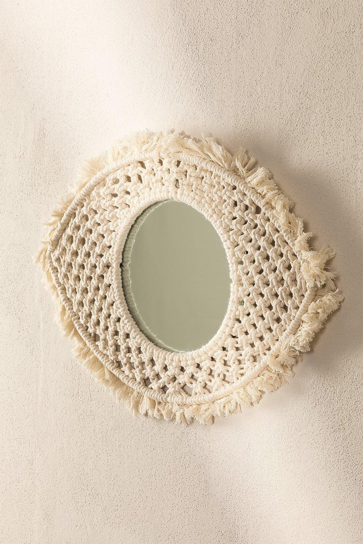 Specchio da parete in Macramè Brice , immagine della galleria 1